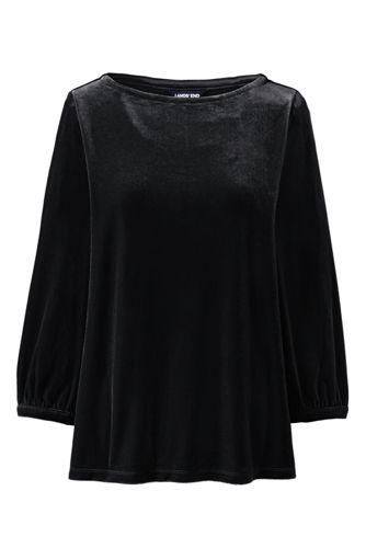 Samtshirt für Damen in Plus-Größe