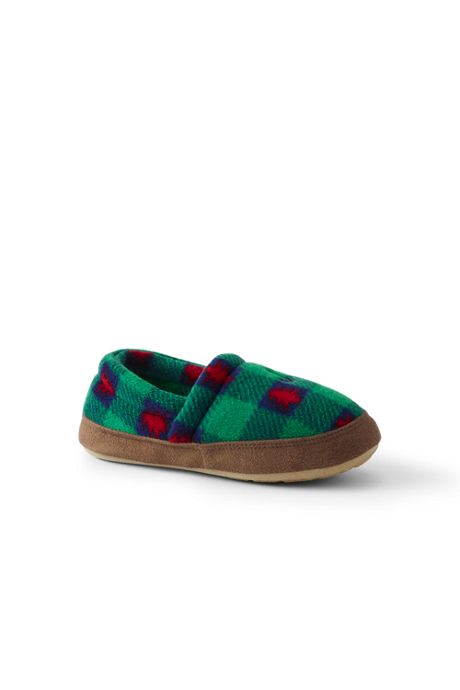 Kids Christmas Fleece Slip On House Slippers