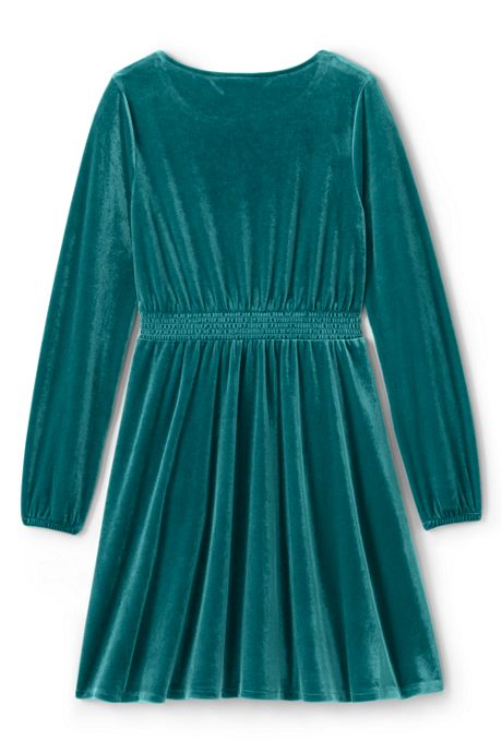 Little Girls Velveteen Twirl Dress