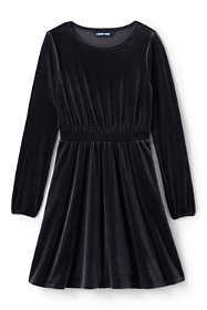 Girls Plus Velveteen Twirl Dress