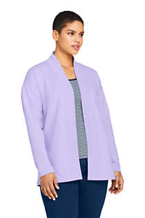 Women's Plus Size Serious Sweats Open Front Long Cardigan , Front