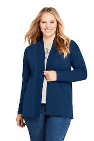Women's Plus Size Serious Sweats Open Front Long Cardigan