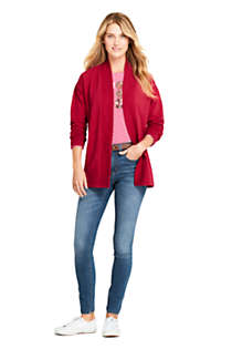 Women's Petite Serious Sweats Open Front Long Cardigan , Unknown