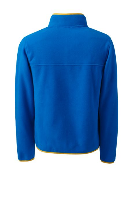 Men's Tall Fleece Snap Neck Pullover Jacket