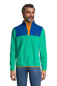 Men's Big and Tall Fleece Heritage Snap Neck Pullover Jacket