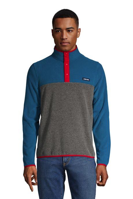 Men's Tall Fleece Snap Neck Pullover Jacket