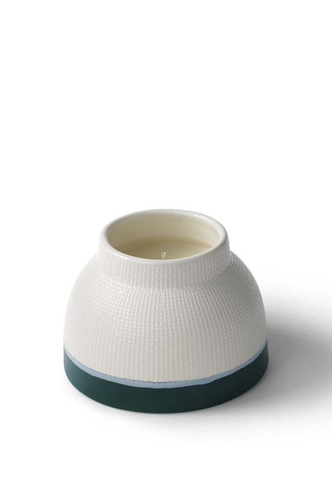 Artisan Ceramic Candle – Lands' End – Green