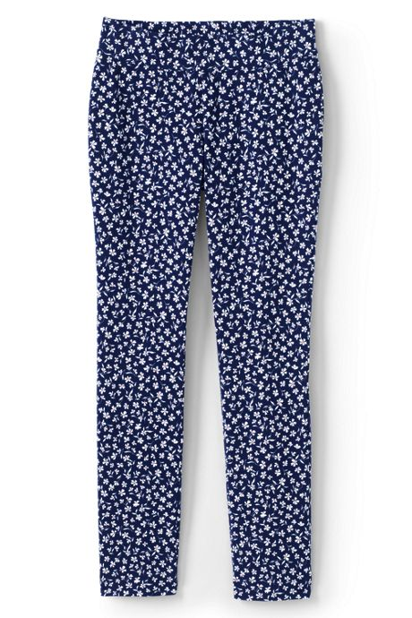 Women's Plus Size Mid Rise Starfish Slim Leg Pants Pattern