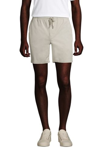 Short Chino Stretch Taille Elastiquée, Homme Stature Standard