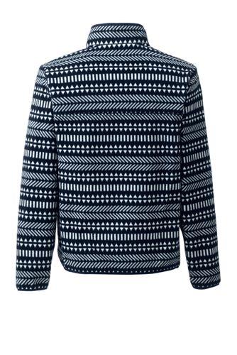 Men's Print Fleece Snap Neck Pullover Jacket