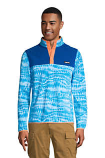 Lands End Mens Fleece Snap Neck Pullover Jacket