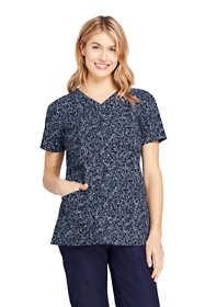 Women's Printed Scrubs Uniform Top