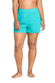 "Women's Plus Size 3"" Chlorine Resistant Tummy Control Modest Swim Shorts"