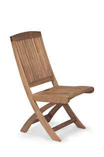 Teak Folding Side Chair (Set of 2), Front