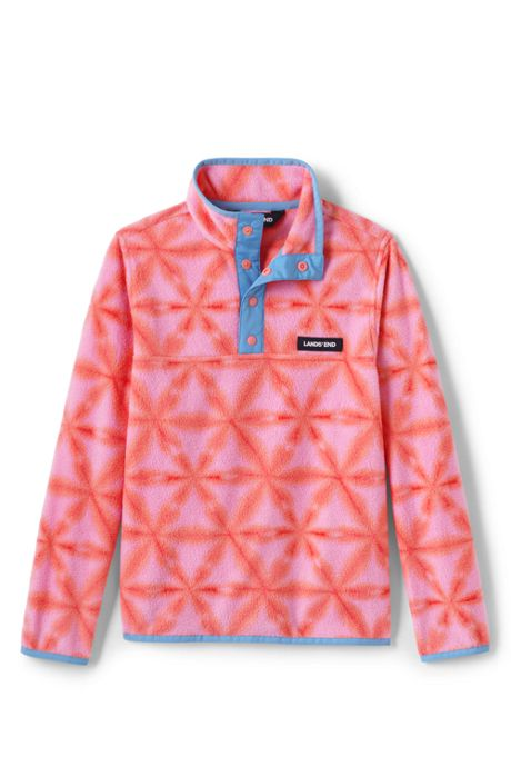 Big Kids Printed Fleece Pullover