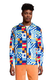 Men's Tall Pattern Waterproof Windbreaker Jacket