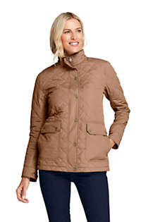 Women's Packable Insulated Quilted Barn Long Jacket, Front