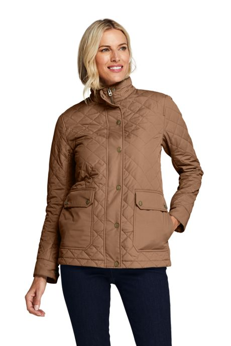 Women's Packable Insulated Quilted Barn Long Jacket