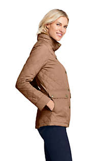 Women's Packable Insulated Quilted Barn Long Jacket, alternative image