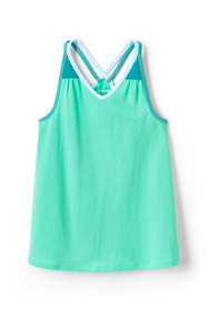 Little Girls Solid Flowy Tank Top