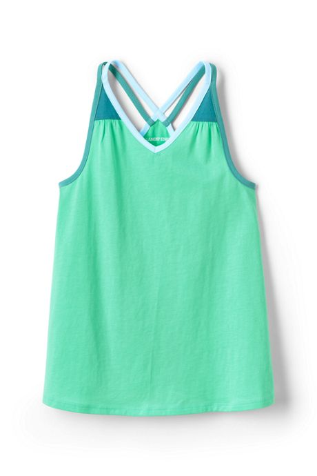 Girls Plus Solid Flowy Tank Top