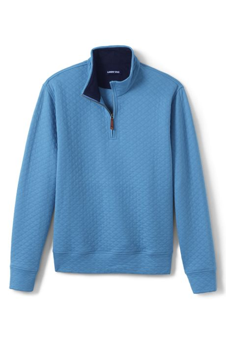 Men's Lightweight Quilted Bedford Rib Quarter Zip Sweater