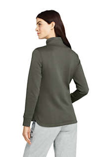 Women's Petite Quilted Fleece Jacket, Back