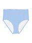 Women's Beach Living Retro High Waist Bikini Briefs, Seersucker Stripe