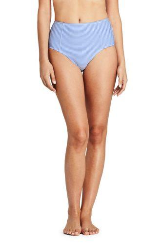 Women's Beach Living Retro High Waist Bikini Bottoms