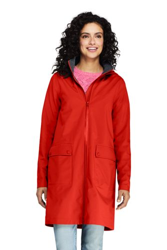 Women's Petite Waterproof Raincoat with Stretch