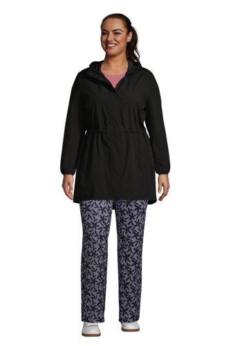 Women's Plus Size Packable Raincoat