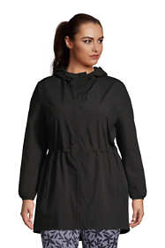 Women's Plus Size Packable Raincoat