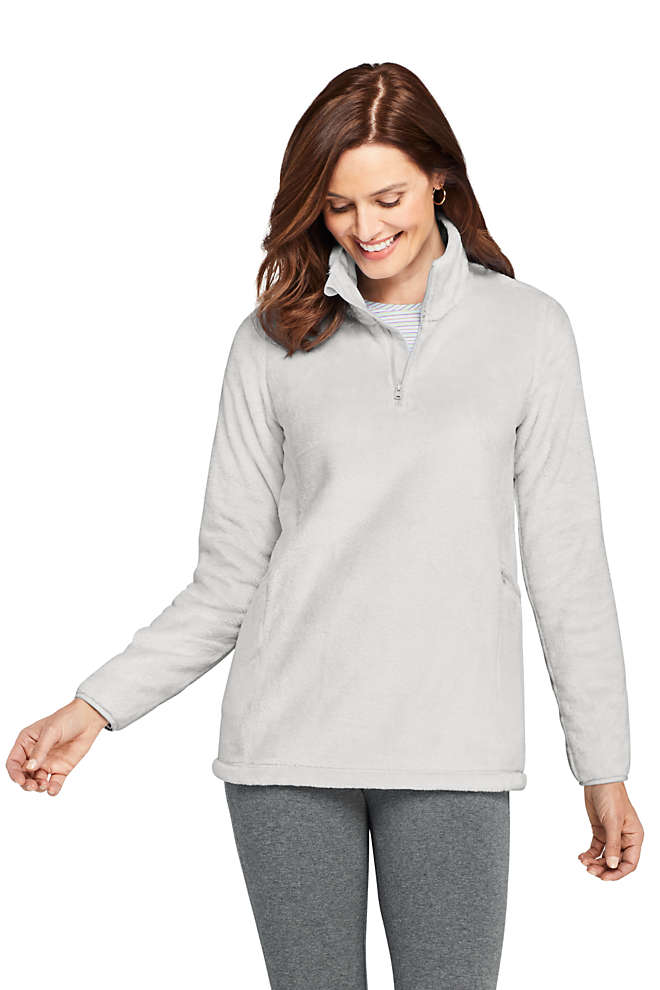 Women's Petite Softest Fleece Tunic Pullover, Front