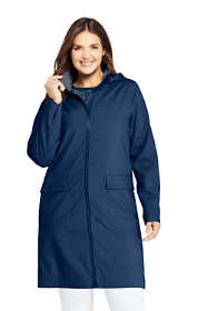 Women's Plus Size Classic Stretch Raincoat