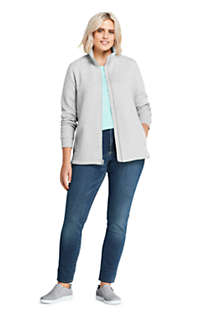 Women's Plus Size Quilted Fleece Jacket, Unknown
