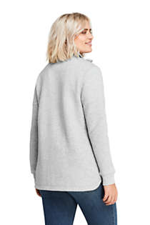 Women's Plus Size Quilted Fleece Jacket, Back