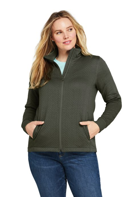 Women's Plus Size Quilted Fleece Jacket