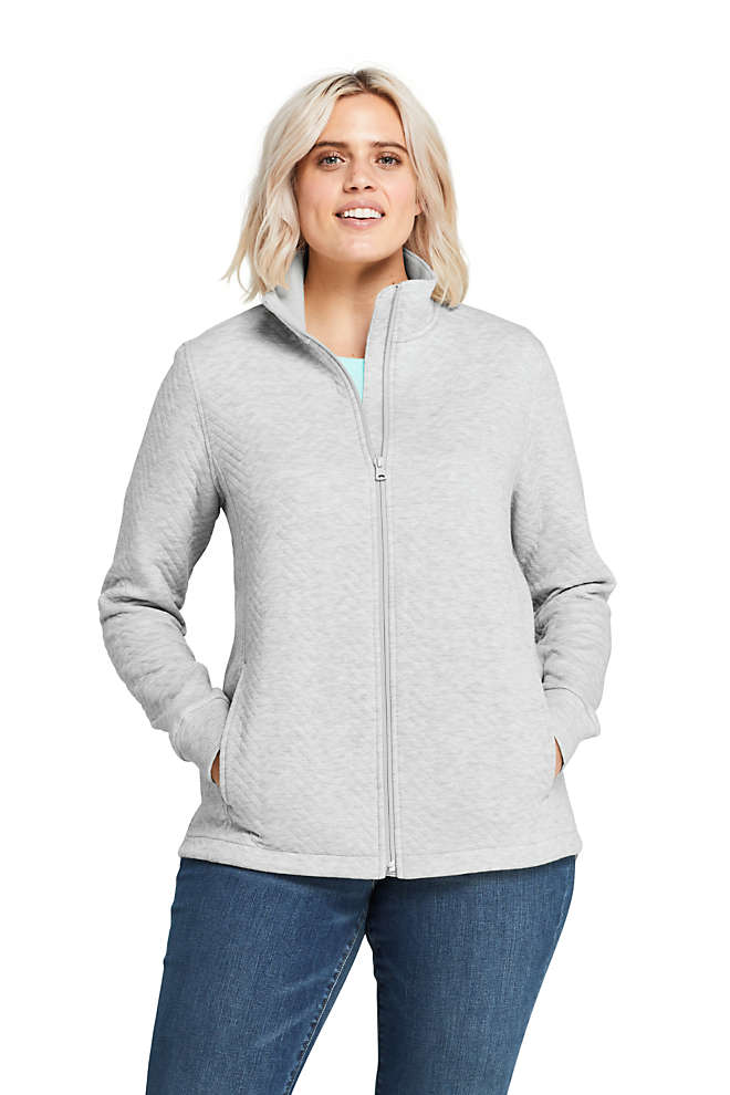 Women's Plus Size Quilted Fleece Jacket, Front