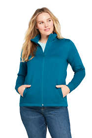 Women's Plus Size Quilted Fleece Jacket
