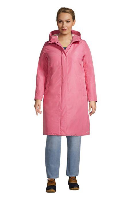Women's Plus Size Insulated Raincoat