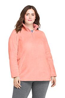 Women's Softest Fleece Half Zip Tunic Top