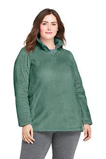 Langer Wellnessfleece-Pullover für Damen