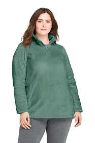 Women's Plus Size Softest Fleece Tunic Pullover