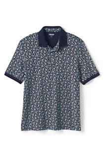 Men's Short Sleeve Pattern Supima Polo Shirt, Front
