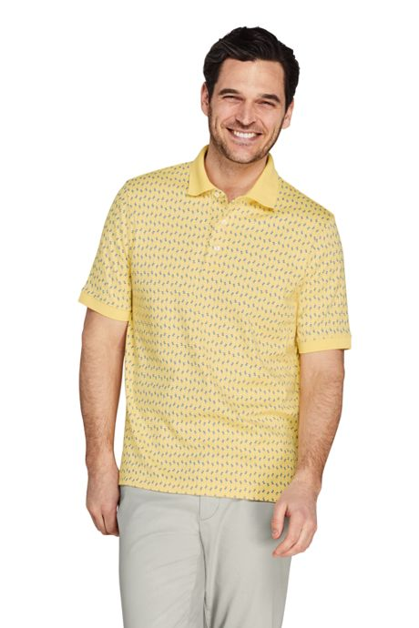 Men's Tall Short Sleeve Pattern Supima Polo Shirt