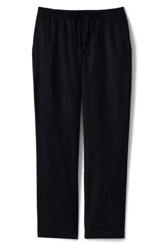 Women's Mid Rise Stretch Linen Blend Jogger Trousers