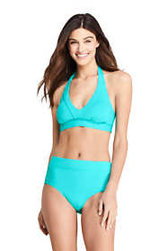 Women's V-neck Halter Bikini Top Swimsuit