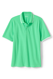 Men's Stretch Piqué Polo Shirt, Tipped Collar