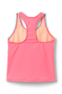 Girls Plus Colorblock Tankini Top, Back