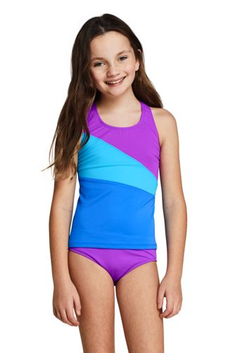 Girls Plus Colorblock Tankini Top